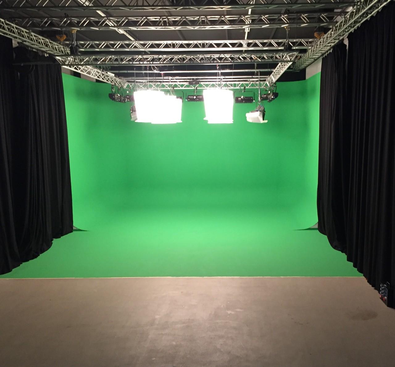 TMT Filmstudio 1 mit Greenbox für Green Screen