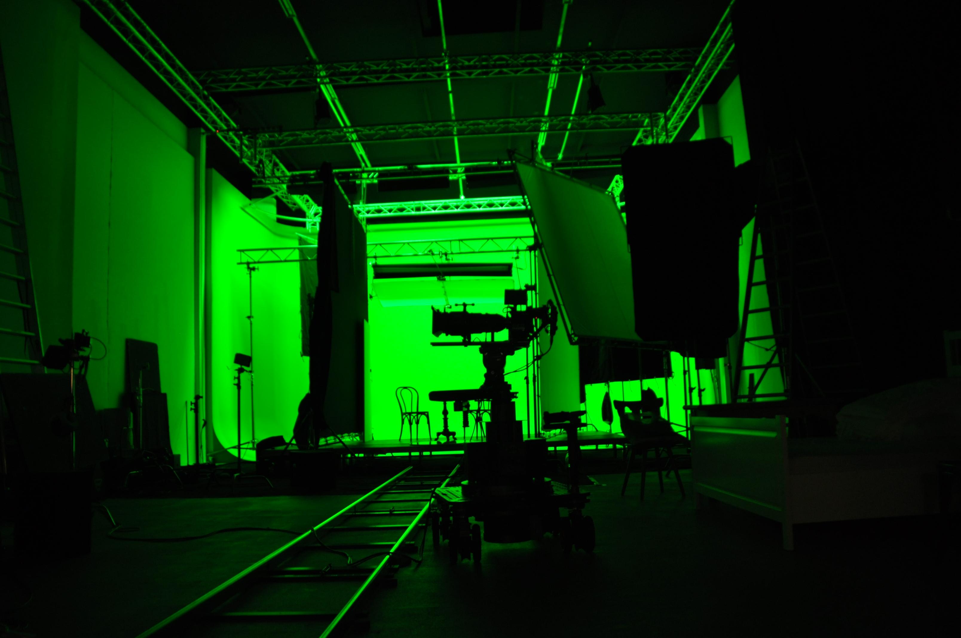 Filmstudio TMT Studio 1 mit Green Box