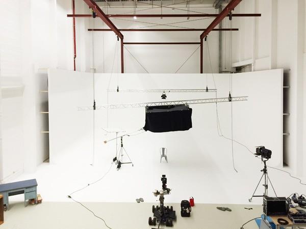 TMT Filmstudio Studio 2 mit professioneller Ausstattung für Film und TVC